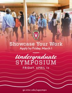 Undergraduate Symposium Flyer